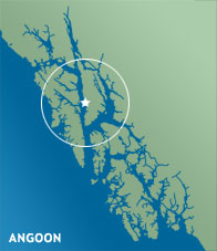 Angoon Locator Map