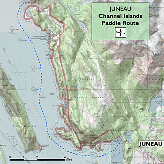 Channel Islands Paddle Route